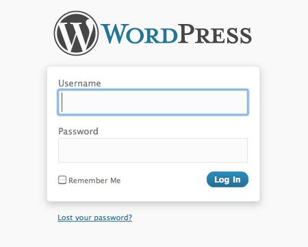 wordpress login image